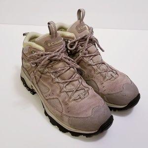 Columbia Size 7.5 Tan Hiking Waterproof Boots